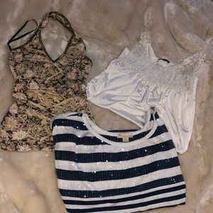 Bundle of 3 for $15 XS/S Tops